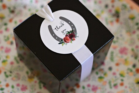 Black Wedding Favor Boxes, Groomsman Gift Box, She Said Yes Bridal Shower Favors