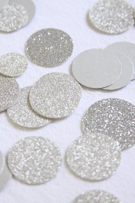 Disco Party Confetti, Silver Glitter Confetti, NYE