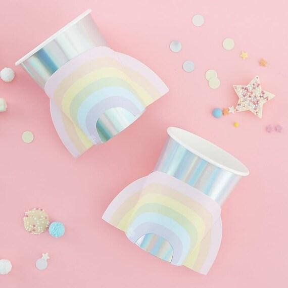 Rainbow Party Cups, Rainbow Birthday