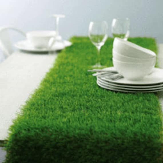 Kentucky Derby Table Runner, Fake Grass Wedding Table Runner, Easter, Bridal Shower Decor, Tea Party, Football Party