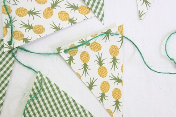 Pineapple Garland, Tropical Bridal Shower, Pineapple Birthday Party Banner, Tutti Frutti