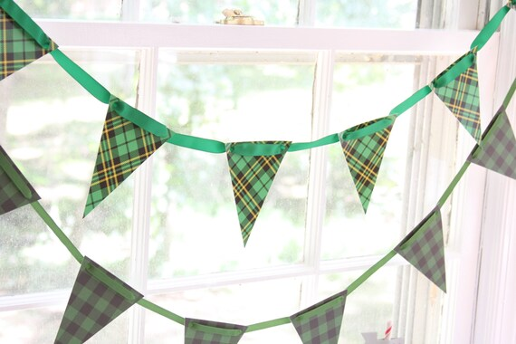 Kentucky Derby Party, Baby Boy Shower Scotch Plaid Banner