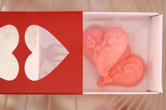 Valentine Macaron Box, Sleeve Cookie Box, Mini Dessert Box,  Wedding Favor Box, Valentine's Cookie Packaging