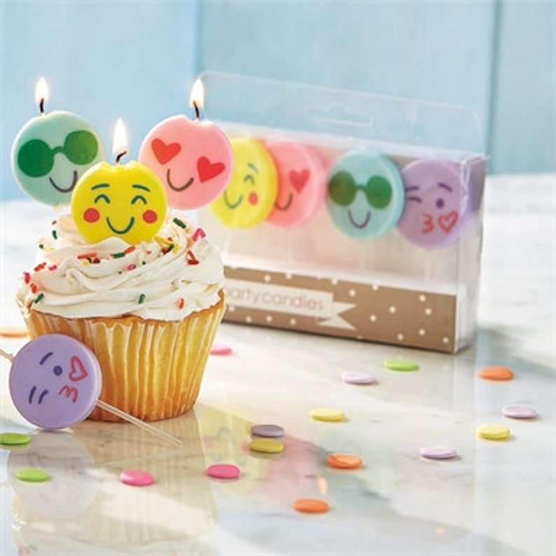 Emoji Party Candles Birthday Candles image 0