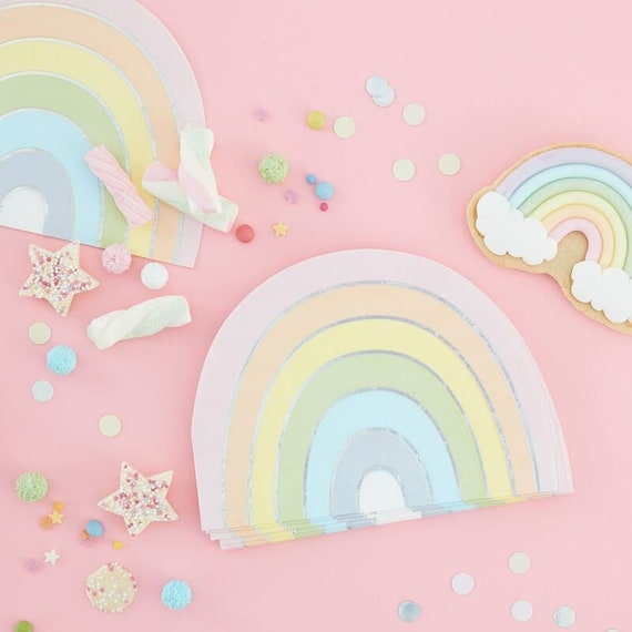 Rainbow Party Napkins, Rainbow Birthday, Unicorn Party