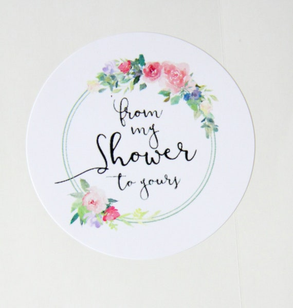 From My Shower To Yours Stickers, Bath Salt Favors, Bridal Shower Ideas, Baby Shower Ideas