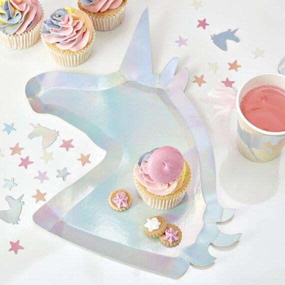 Unicorn Party Plates, Rainbow Birthday, Magical Princess Party