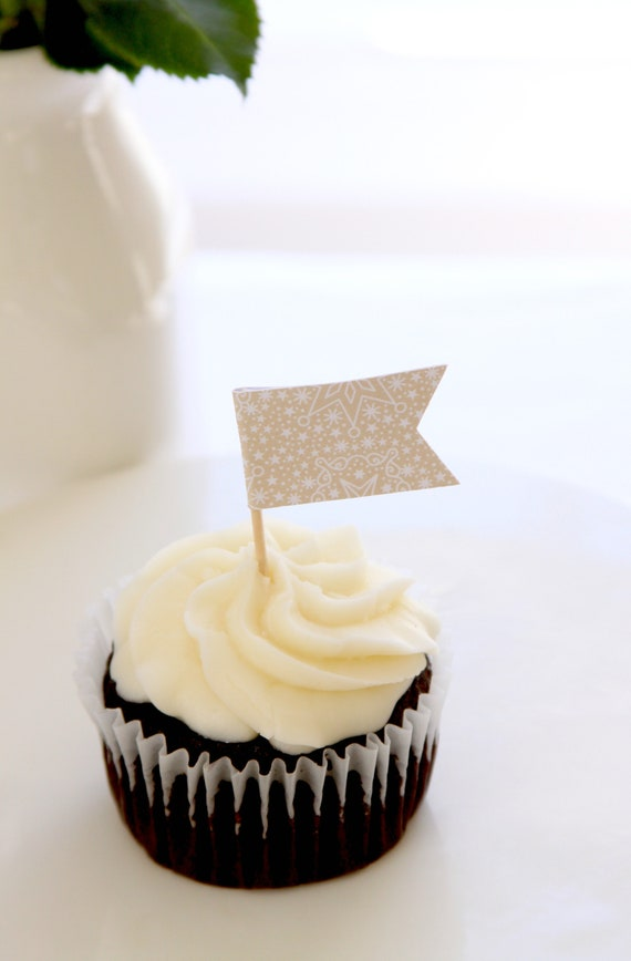 Hygge Style Nordic Party Cupcake Toppers Baby Its Cold Etsy