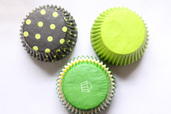 Lime Green Cupcake Liners, Cupcake Wrappers, John Deer Party Party