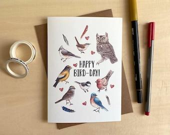 Happy Bird-Day! - Birthday Card