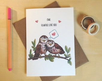 Owl Always Love You Valentines Day Card