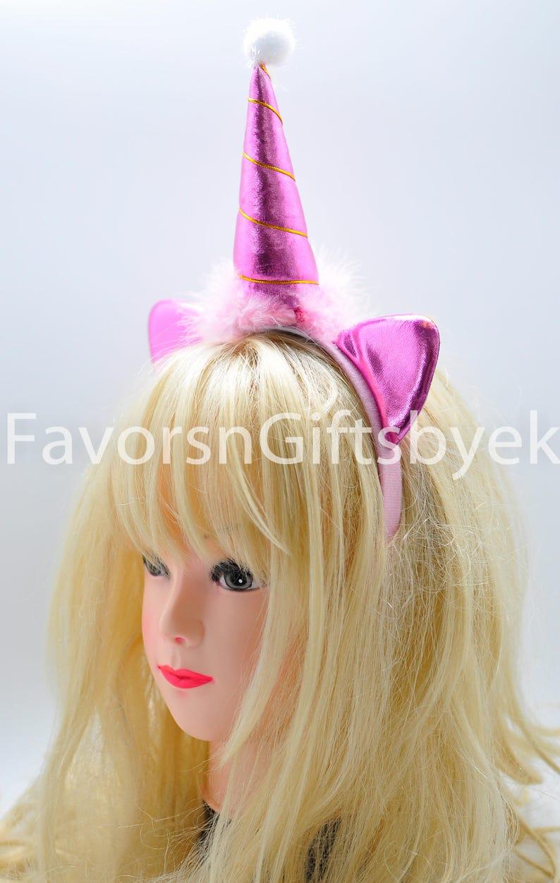 Unicorn Headband Caticorn Magical Horn Kids Adults Ears Party Favors Rainbow Unicorn Party Cosplay Diadema de unicornio 12 pcs