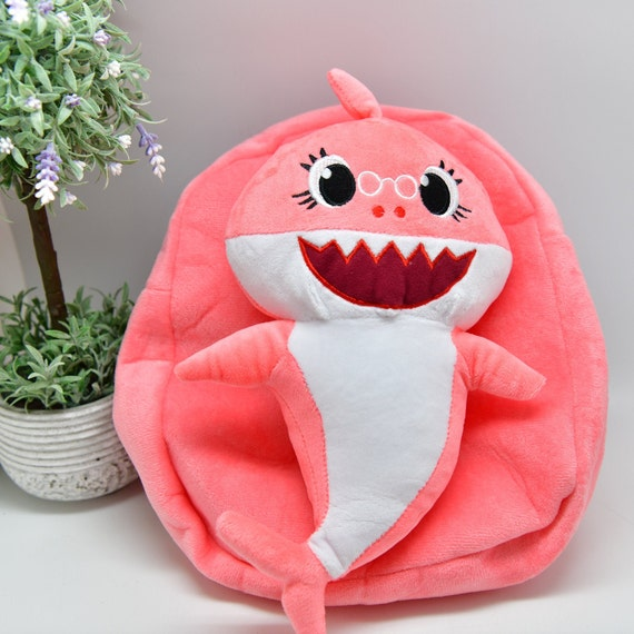 Cute Kids Backpack Baby Shark Girls Boys Soft Toys Back To School Bag Rucksack
