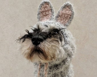 Fluffy Easter Bunny Dog Snood - Fits XS - XL Dogs -  Handmade  Costume