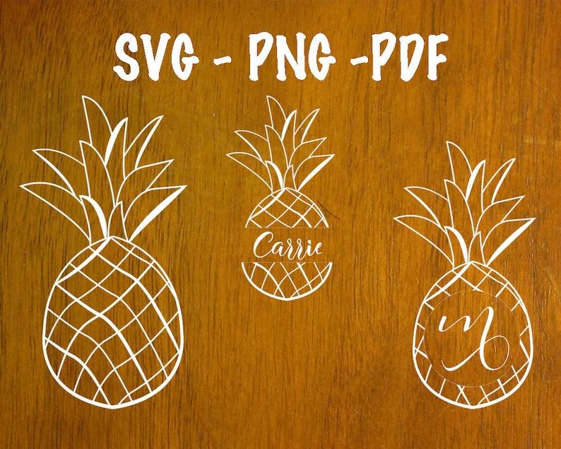19f45647bb6 Pineapple circle monogram svg Papercutting pdf template