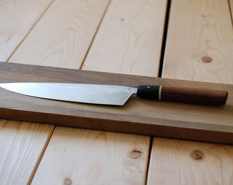"""8"""" Stainless Walnut and Brass Chef"""