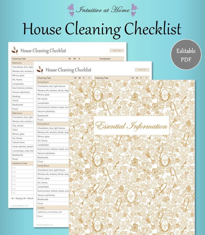 Relativ Reinigung Checkliste Housekeeping mühsam Diagramm Haushalt   Etsy IP16