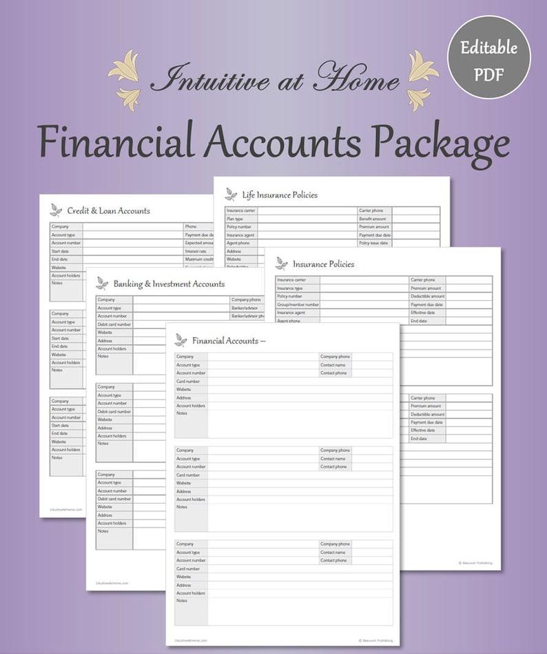 Financial Planner Bill Tracker   Gray Editable Fillable image 2