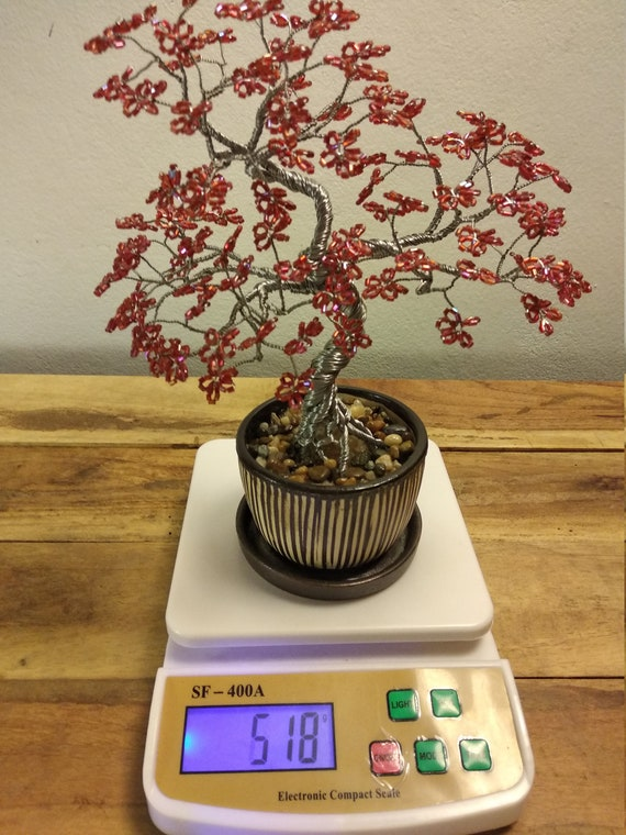 Draht Baum handgemachte Perlen Bonsai Skulptur Wile Stil | Etsy