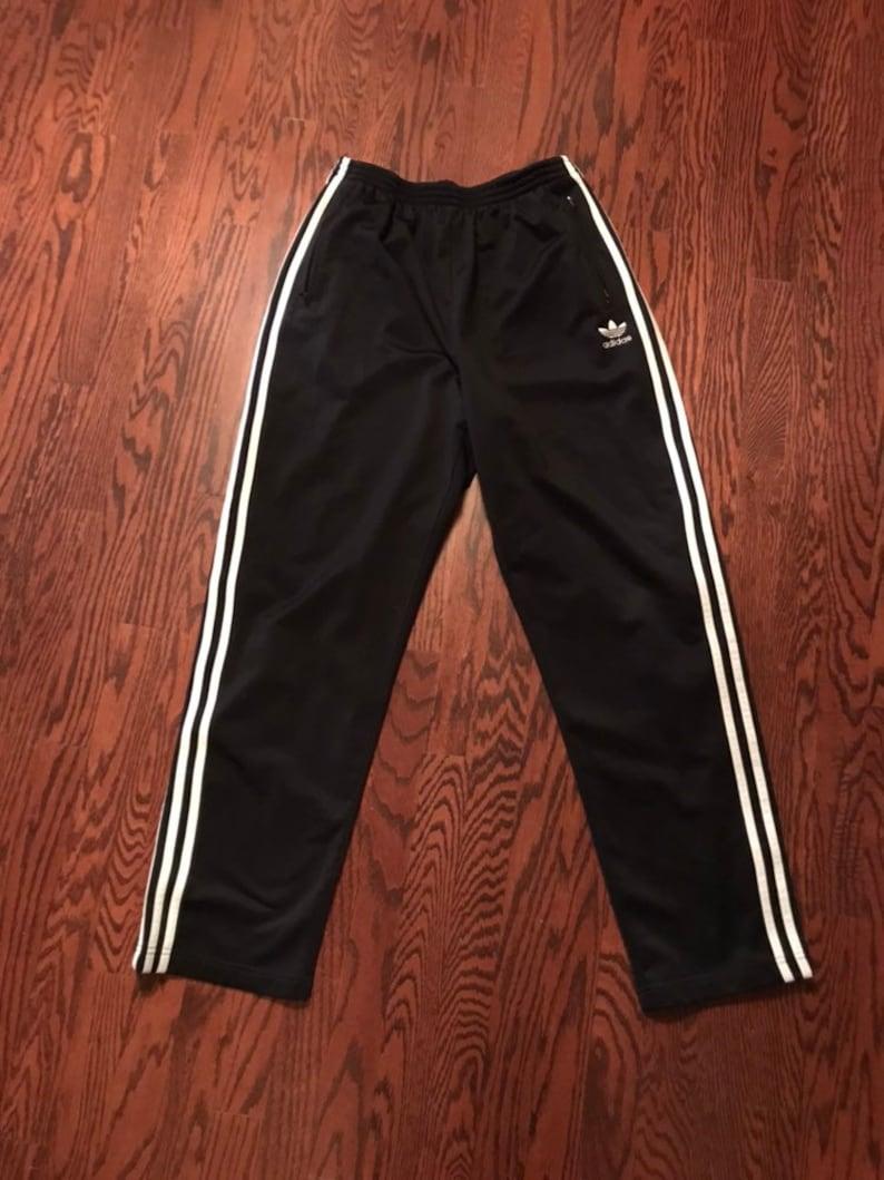 9627a9ae52bfb Vintage 90s Adidas Black & White Stripe Tear Away Track Pants Men's Large