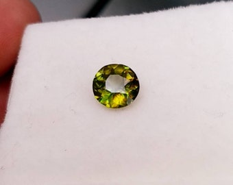 Natural Sphene Green Fire Chrome Color Change Stone  Round Mix Cut 1.05 carats  from Pakistan.