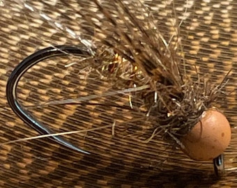 Grizzly Caddis Nymph: Package of 2; fly fishing flies, Trout flies, fishing flies, TYROAM, ty roam, Tenkara, fly fishing,