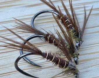 NSC Pheasant Tail: Package of 3, Trout flies, Fly fishing flies, Tenkara, Tenkara flies, TYROAM, ty roam