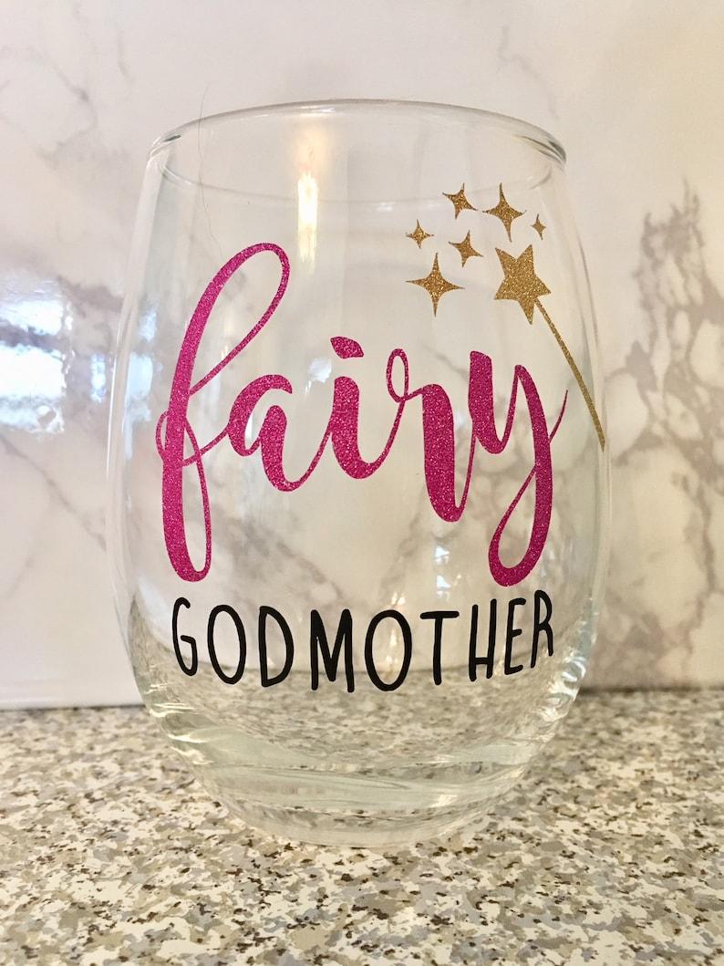 80ad8a33f70 Fairy Godmother Wine Glass Godmother Wine Glass Godmother   Etsy