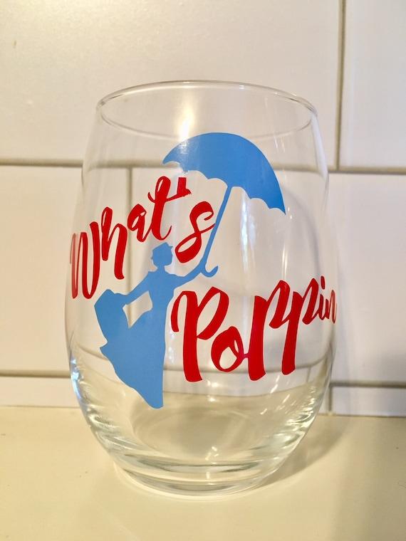 Mary Poppins Wine Glass Wedding Gift Friend Gift teacher gift Disney gift present