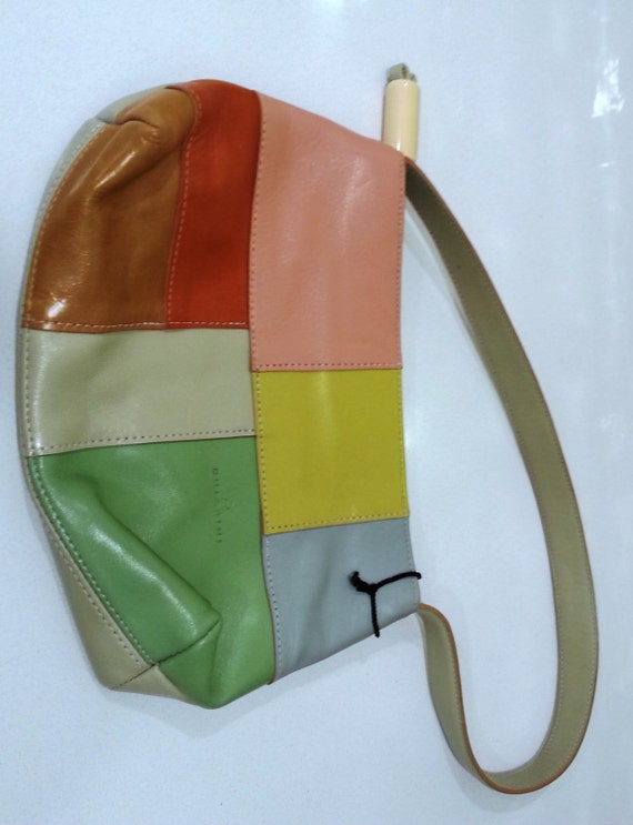 Vintage Chiarini Patchwork Leather Handbag Made in