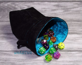 Dice bag for up to 150 cubes, dice bag, dice bag, drawstring bag