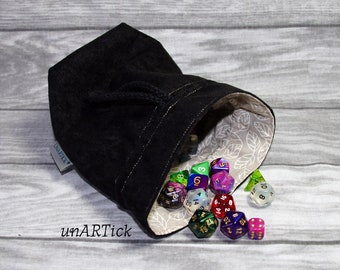Dice bag for up to 150 cubes, dice bag, dice bag, drawstring bag