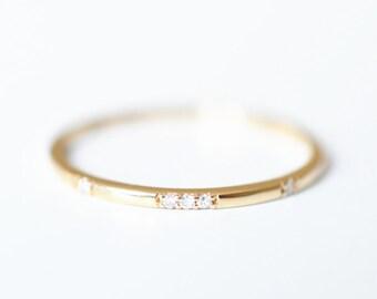 14k Wedding Band 18K Gold Diamond Ring 18K Gold Ring Rose Gold Engagement Ring 14k Engagement Diamond Ring 14k Rose Gold Ring