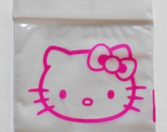 Ziplock Plastic Bags 2x2 Pink Hello Kitty (White Poly c8e65c078b115