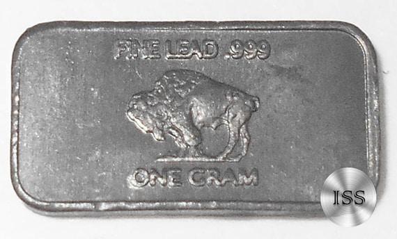 Fine .999 Molybdenum Ingot Fractional Metal Bullion One Gram Pure Buffalo Bar