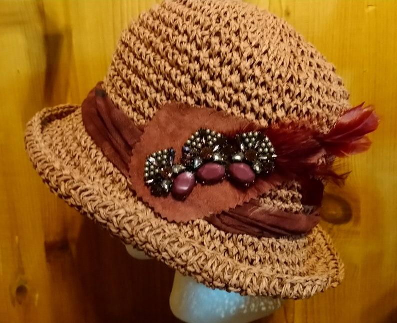 CRUSHABLE SASSY MAUVE cloche hat
