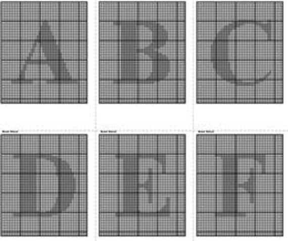 Alphabet Charts Alphabet Knitting Charts Crochet Letter Etsy