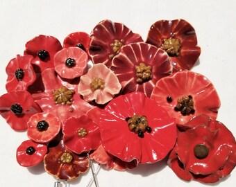 Poppy Flower Pin Etsy