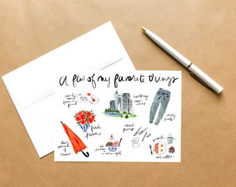 Favorite Things | Love Greeting Card