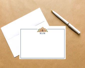 Alamo | Personalized Watercolor Note Card