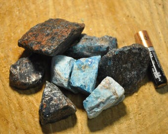 Blue Apatite Rough