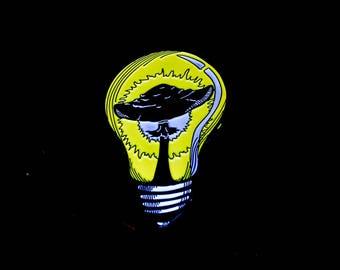 Fungi Lighting Logo Hatpin