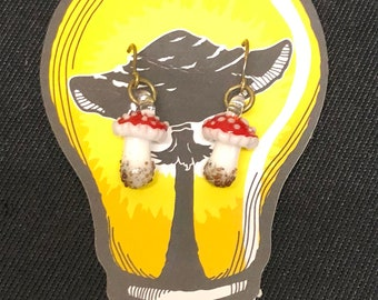 Mushroom Earrings - Amanita
