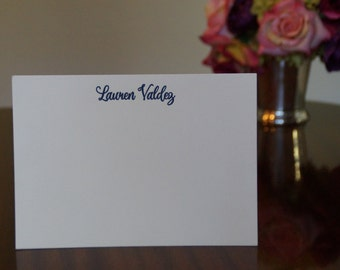 Custom Letterpress Stationary, Set of 50 (double weight paper)