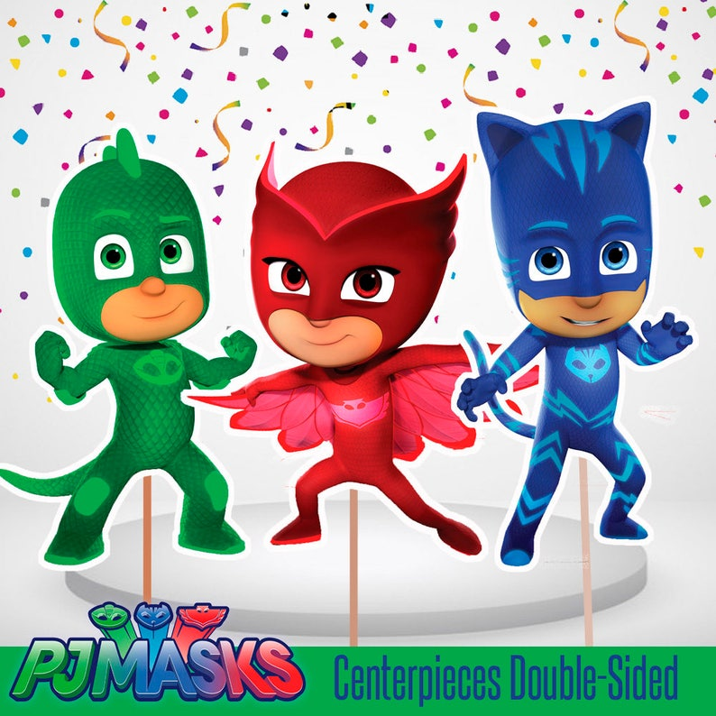 graphic relating to Printable Pj Masks referred to as Printable PJMASKS Centerpiece Double-Sided, 4 PJMasks Centerpiece, Cake Topper, PJMasks Occasion, Electronic, Printable, Significant inch, Minimal inch.