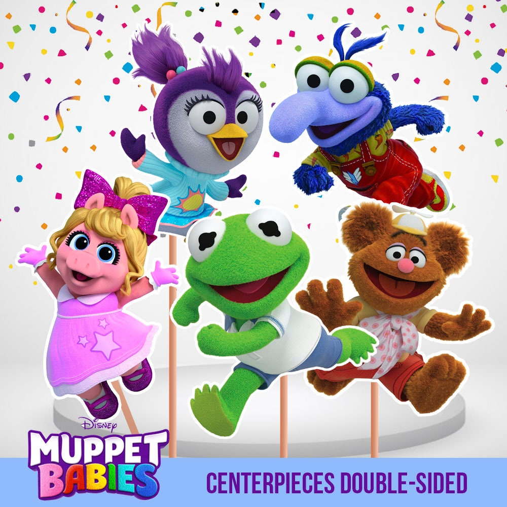 Muppets Animal Free Printable: Muppet Babies Centerpieces Double Sided 5 Centerpieces