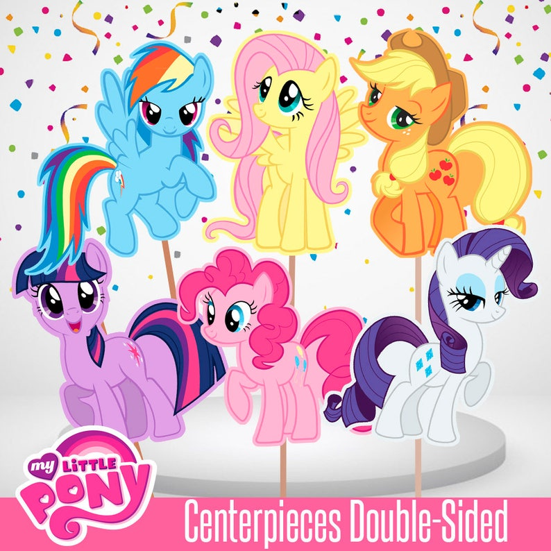 graphic regarding My Little Pony Printable named 8 My Tiny Pony Centerpiece Printable, My Very little Pony Cake Topper, My Very little Ponny Get together, Printable, Massive dimensions, Tiny sizing