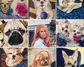 Personalized Original Acrylic Pet Portrait From Photo Custom Cat/Dog portrait Custom Pet Portraits,, Gift for Pet Lovers, Pet lover gift