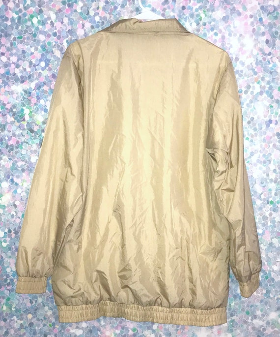 Vintage 90s Tan Longer Style Windbreaker Jacket - image 2