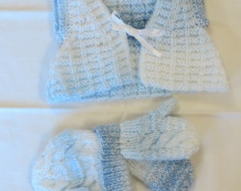 Girls' Clothing (0-24 Months) Helpful Hand Made Crochet Baby Gillet Fit 0 3 Months